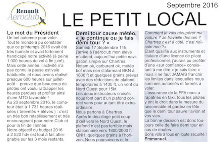 Le Petit Local de septembre 2016