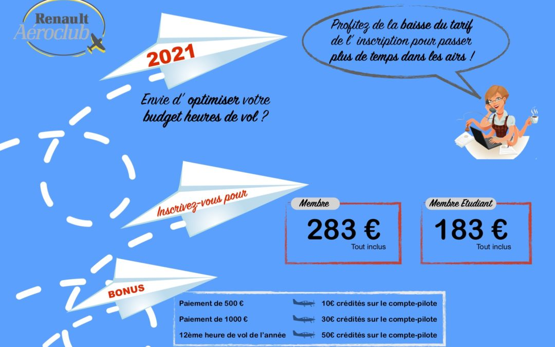 Inscriptions 2021